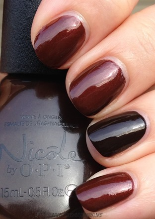 Nicole by OPI Better After Dark with Promises in the Dark Accent