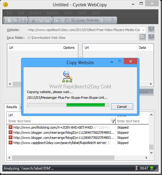 Cyotek WebCopy - test
