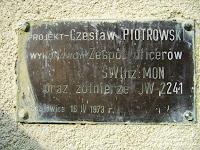 Gozdowice -Pomnik Sapera (odsłonięty dla uczczenia pamięci saperów poległych w pierwszym dniu forsowania Odry -16 kwietnia 1945 r.)