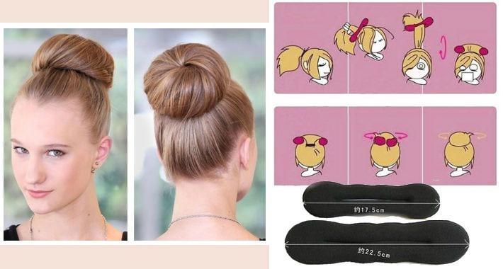 rosquinha coque acessorio penteado
