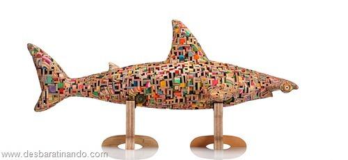 arte esculturas com skate reciclado desbaratinando  (24)