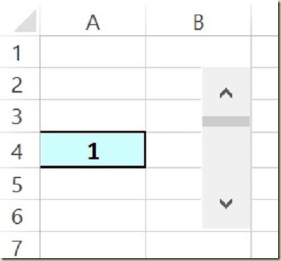 Form Controls in Excel - Initial Scroll Bar