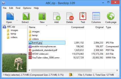 Bandizip : Free Zip Archiver for Windows