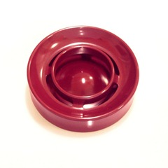 Enzo Mari Lotus ashtray, red