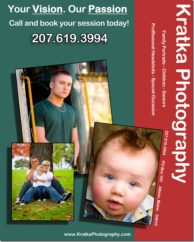 Kratka Photography Flyer