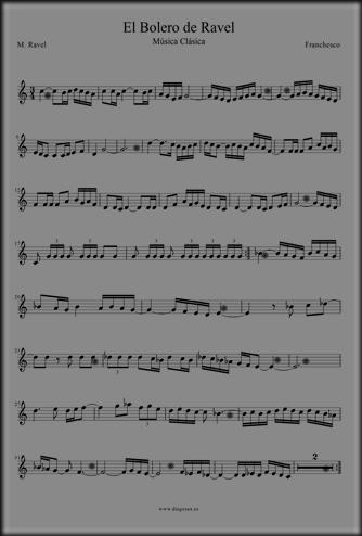 El Bolero de Ravel Flauta