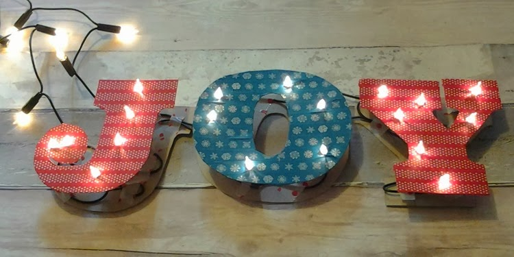 DIY marquee 3d letters joy sign