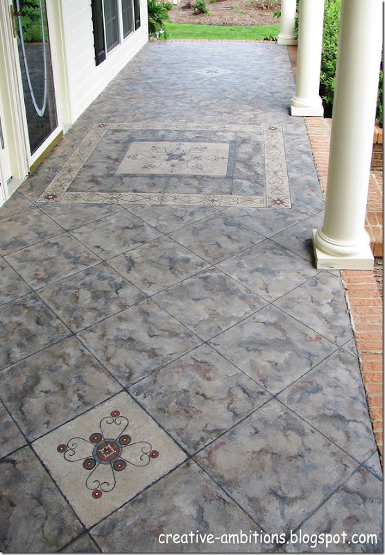 Faux Tile Front Porch (b)