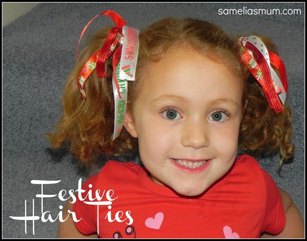 Festive Hair Ties 3 sameliasmum