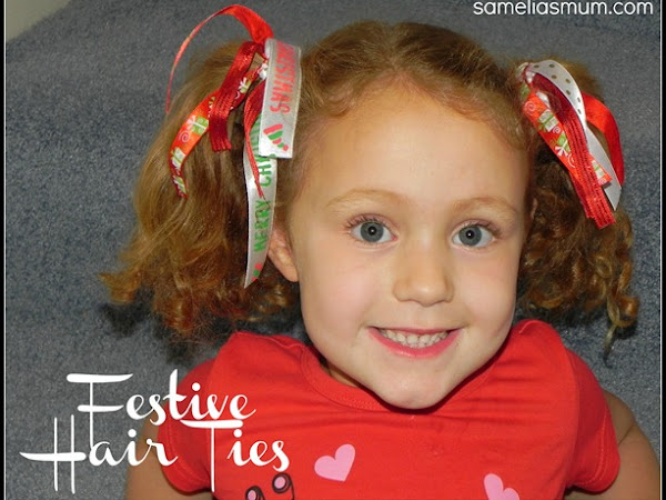 Christmas Hair Ties {Tutorial}