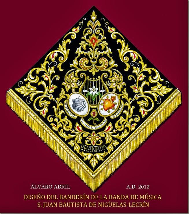 DISEÑO BANDERIN BANDA DE MUSICA LECRIN NIGÜELAS GRANADA ALVARO ABRIL VELA 2013