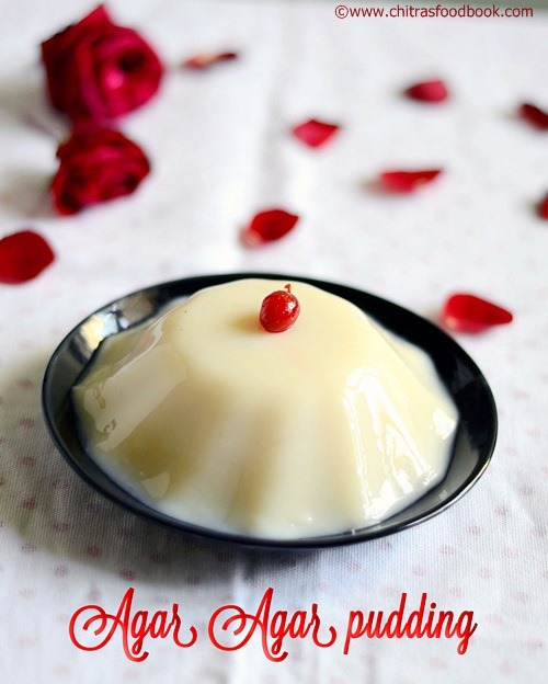 china grass pudding/agar agar pudding recipe