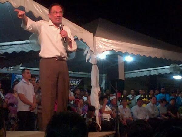 Terkini! Anwar Sedang Berucap Di Seberang Jaya