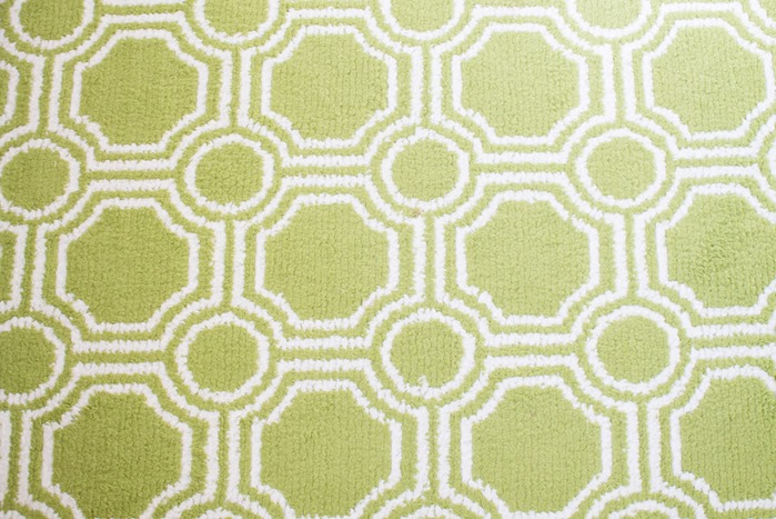 green geometric rug from walmart