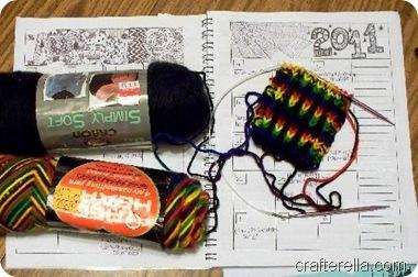 organizer and knitting