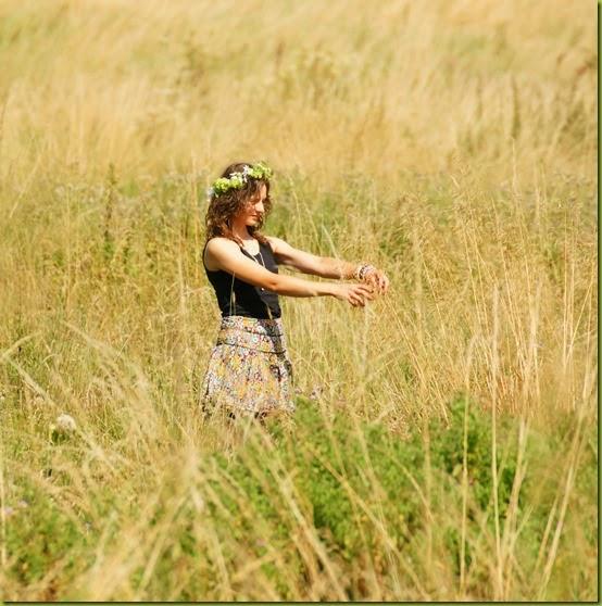 summer wild child in long grass