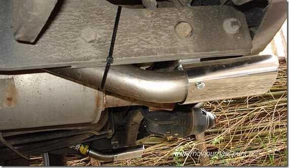 Dubbele uitlaat Dacia Logan MCV 06