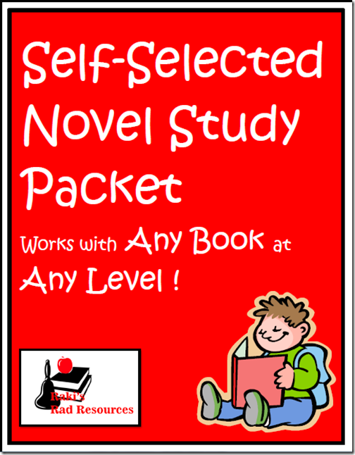 Resources to keep students reading books they enjoy while keeping them accountable for their learning.  Resources from Raki's Rad Resources - self selected novel study