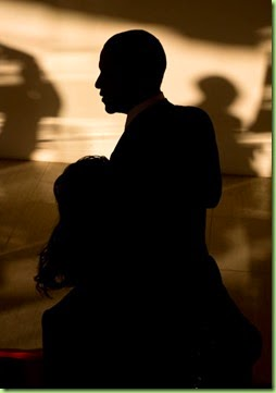 "Nov. 13, 2014 ""I almost tripped coming down the stairs trying to make this photograph as the President turned the corner at the bottom of the stairs coming into this beautiful light casting shadows and and his silhouette at the Parliamentary Resource Center in Naypyitaw, Burma.""  (Official White House Photo by Pete Souza)"