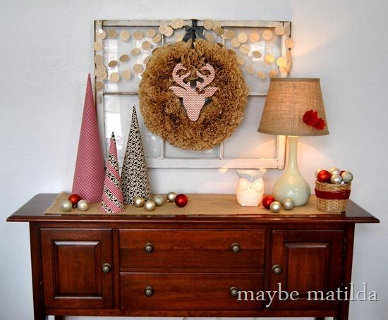Woodland Christmas Vignette