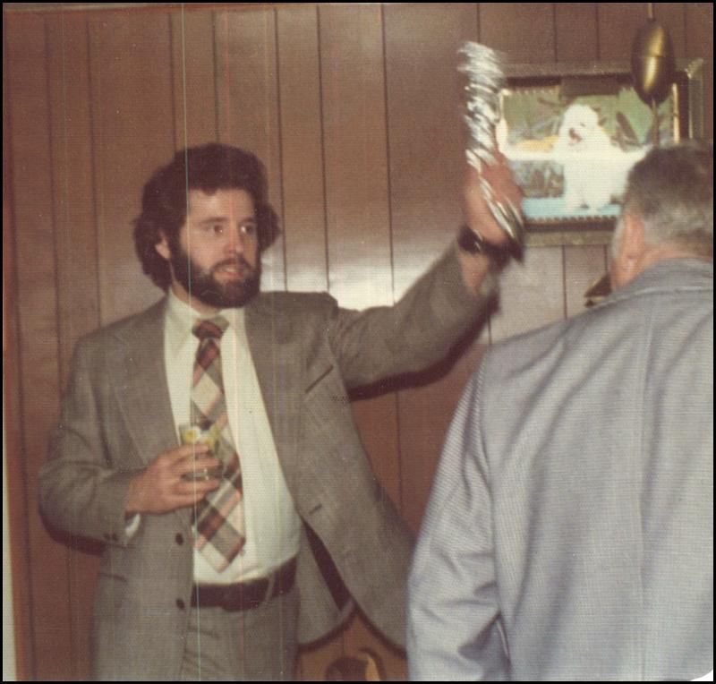 Willie bonks Dad with Kolachi, 1977