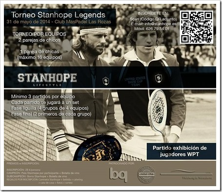 Torneo STANHOPE Legends 31 de mayo 2014 en Club Maspadel: la firma celebra su aniversario.