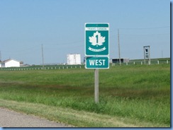8402 Manitoba Trans-Canada Highway 1 - sign