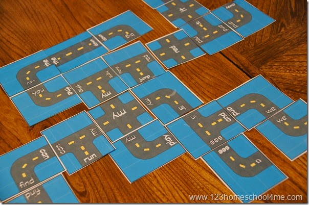 Fun free printable game for kids to learn sight words