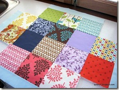 charm square layout for basket