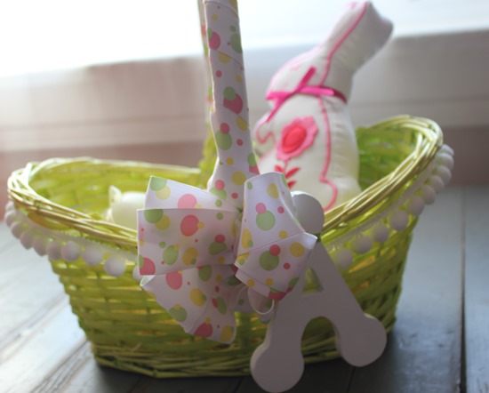 Boutique Style Easter Basket #diy #easter #craft