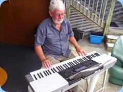 Peter Wilton brought his Casio WK220 along to play and sing along to.