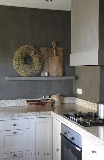 Grijze keuken muur wooninspiratie grijs op de muur styleguide welke kleur op de muur interieur - Gekleurde muren keuken ...