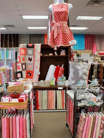 The Fabric Mill Valentine display