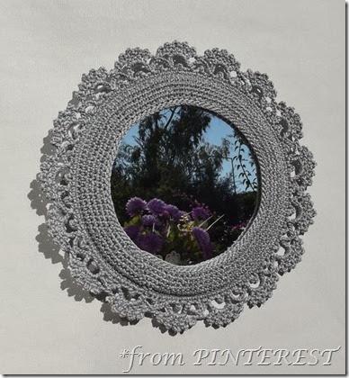pinned crochet frame
