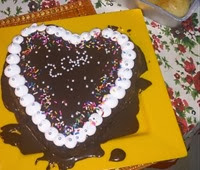 Cake decorated ( splattered) with ganache