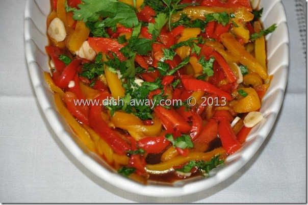 Roasted Peppers Salad by www.dish-away.com