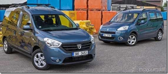 Dacia Dokker vs Peugeot Partner Teepee 01
