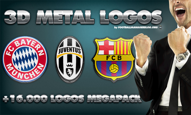 Football Manager 3D Metal Logos Megapack
