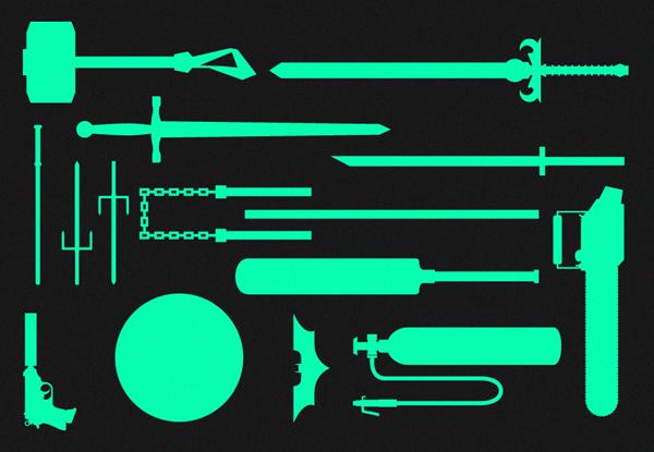 [Infographie] Les plus célèbres armes utilisées dans le films, BD et dessins animés