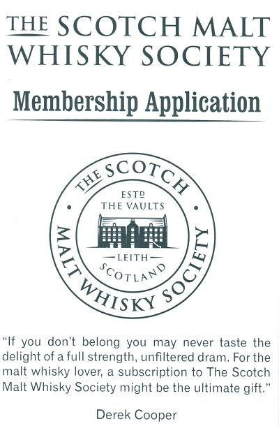 The Scotch Malt Whisky Society Membership Application