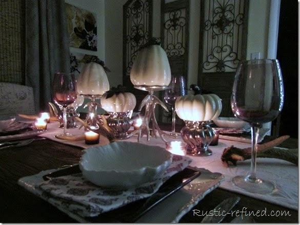 Fall table setting at Night