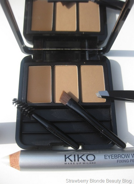 Kiko-Brow-Palette-Kit-Eyebrow-Wax-Fixing-Pencil