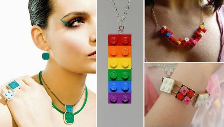 lego anel pulseira colar moda criatividade