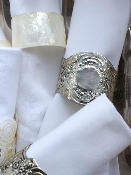 Faux Vintage Lace Napkin Rings via homework | carolynshomework.com