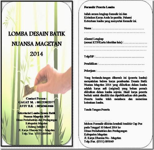 Formulir Peserta Lomba Batik