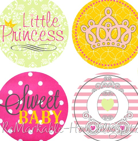princess shower cupcake toppers copy