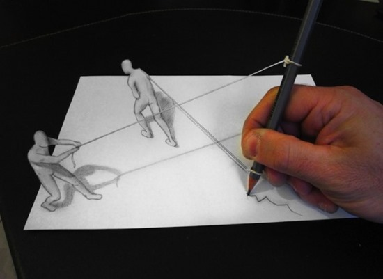 anamorphic drawing