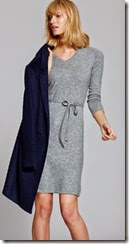 Pure Collection Cashmere V Neck Dress
