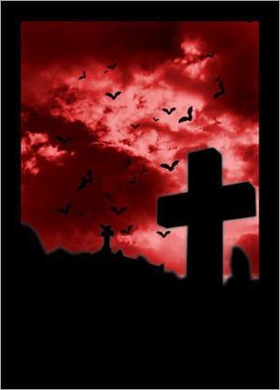 red-grave-cross-night