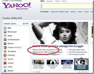Kesilapan Lawak Yahoo! Mengatakan Nabila Huda Bekas Isteri Amy Search!